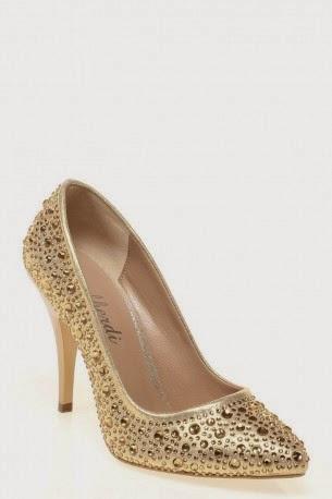 altın sarısı ayakkabı