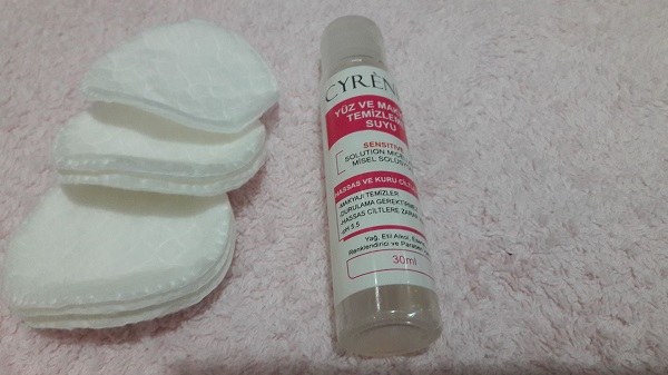 hassas ciltler için yüz ve makyaj temizleme suyu