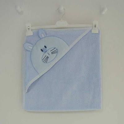 bebekler için havlu, idil babay havlu, mavi bornoz