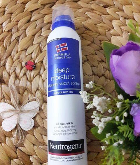 neutrogena deep moisture ekspres vücut spreyi