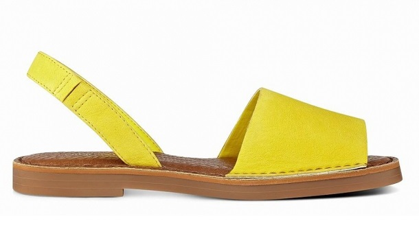 yazlık sandaletler, sarı sandalet