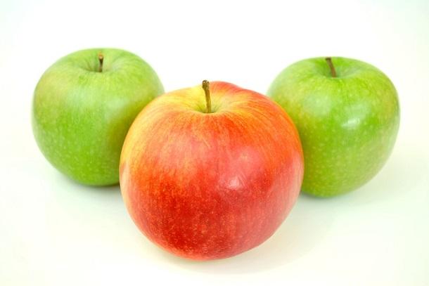 elma, yeşil elma, kırmızı elma