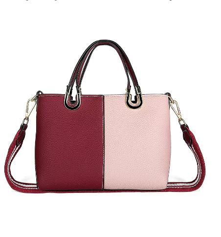 iki renkli çanta, kırmızı çanta, bordo çanta, hediye çanta, şık çanta modelleri