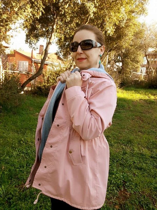 pembe cepli ceket, kapşonlu pembe ceket, pembe trençkot, pink coat, zaful, zaful shopping, zaful bloggers, fashion, moda,