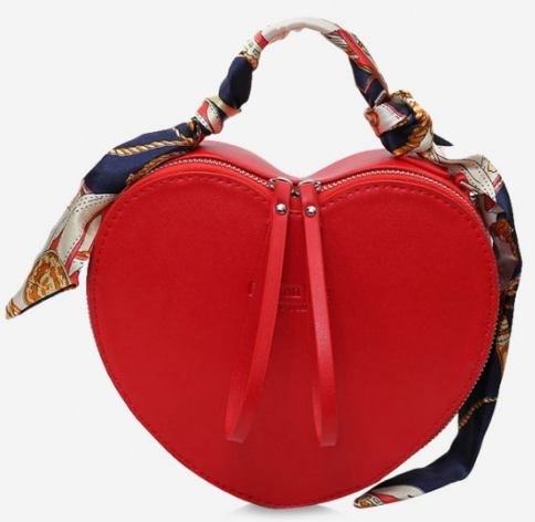 kalpli çanta, kalp şekilli çanta, kırmızı çanta, farklı çanta modelleri, zaful bags