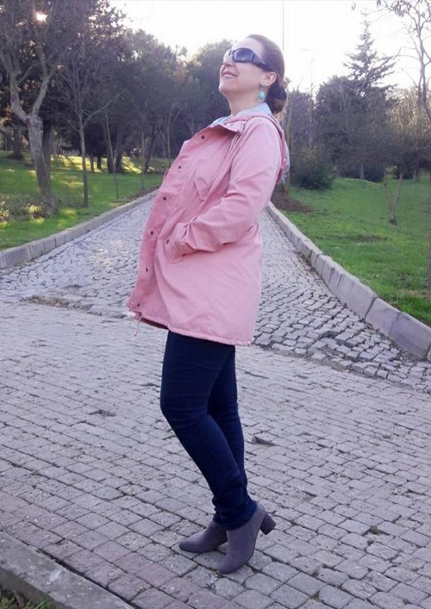 pink coat, pembe kaban, yurt dışı alışveriş, zaful , zaful shopping, trenccoat