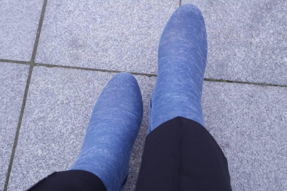 jean bootie, kot çizme, kot ayakkabı