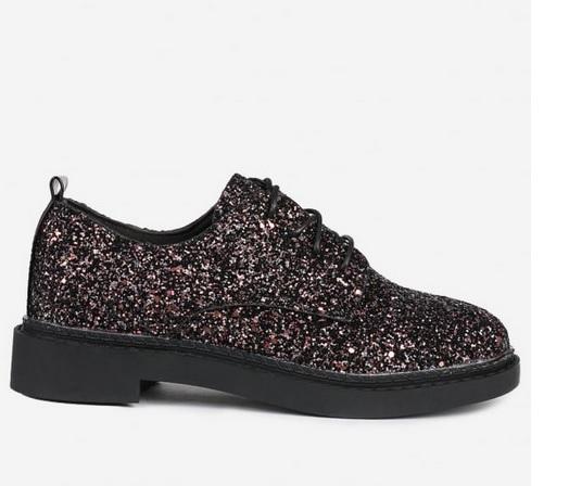 simli, düz, ayakkabı