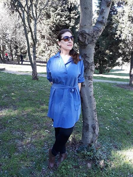 mkavi tunik, mavi gömlek, uzun gömlek modelleri, mavi tunik, tunik modelleri, zaful,