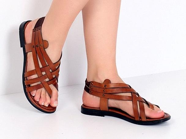 kahve sandalet
