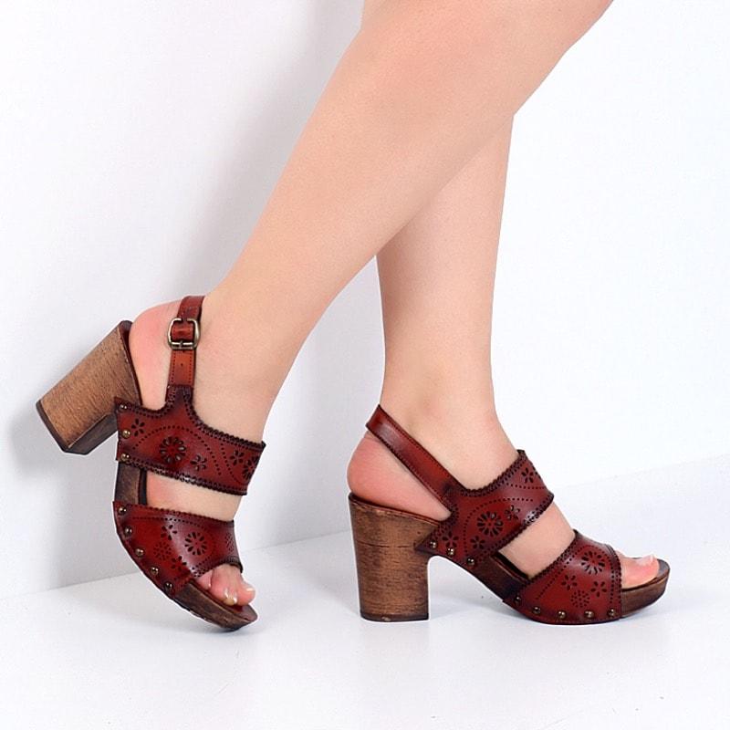 taba rengi platform ayakkabı