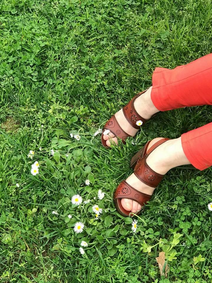 kahverengi yazlık ayakkabı, taba sandalet