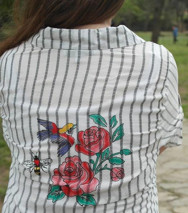 çiçek baskılı gömlek