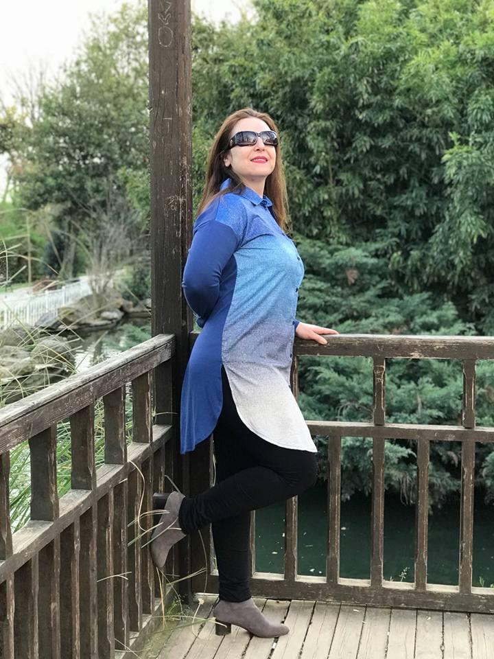 büyük beden mavi tunik