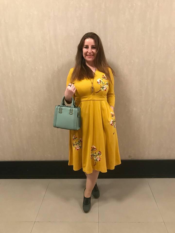 sarı elbise, ilknurundunyasi, jollychic, kloş elbise, moda, elbise modelleri, çiçekli sarı elbise