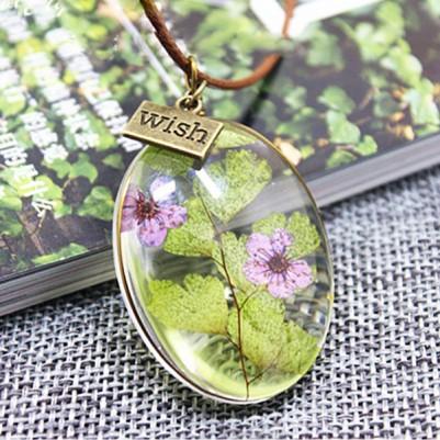 canlı çiçek kolye