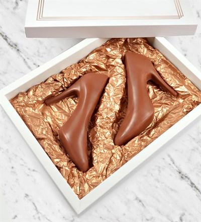 el yapımı çikolata, topuklu ayakkabı çikolata
