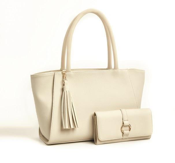 krem renkli Evie çanta