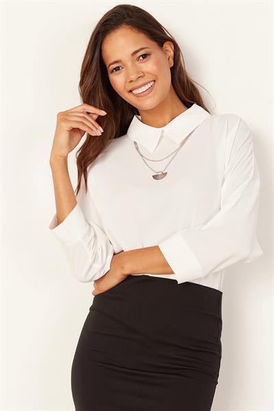 beyaz bluz