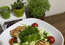 lalefidan hellim peynirli salata