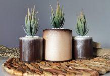 dekoratif beton saksı